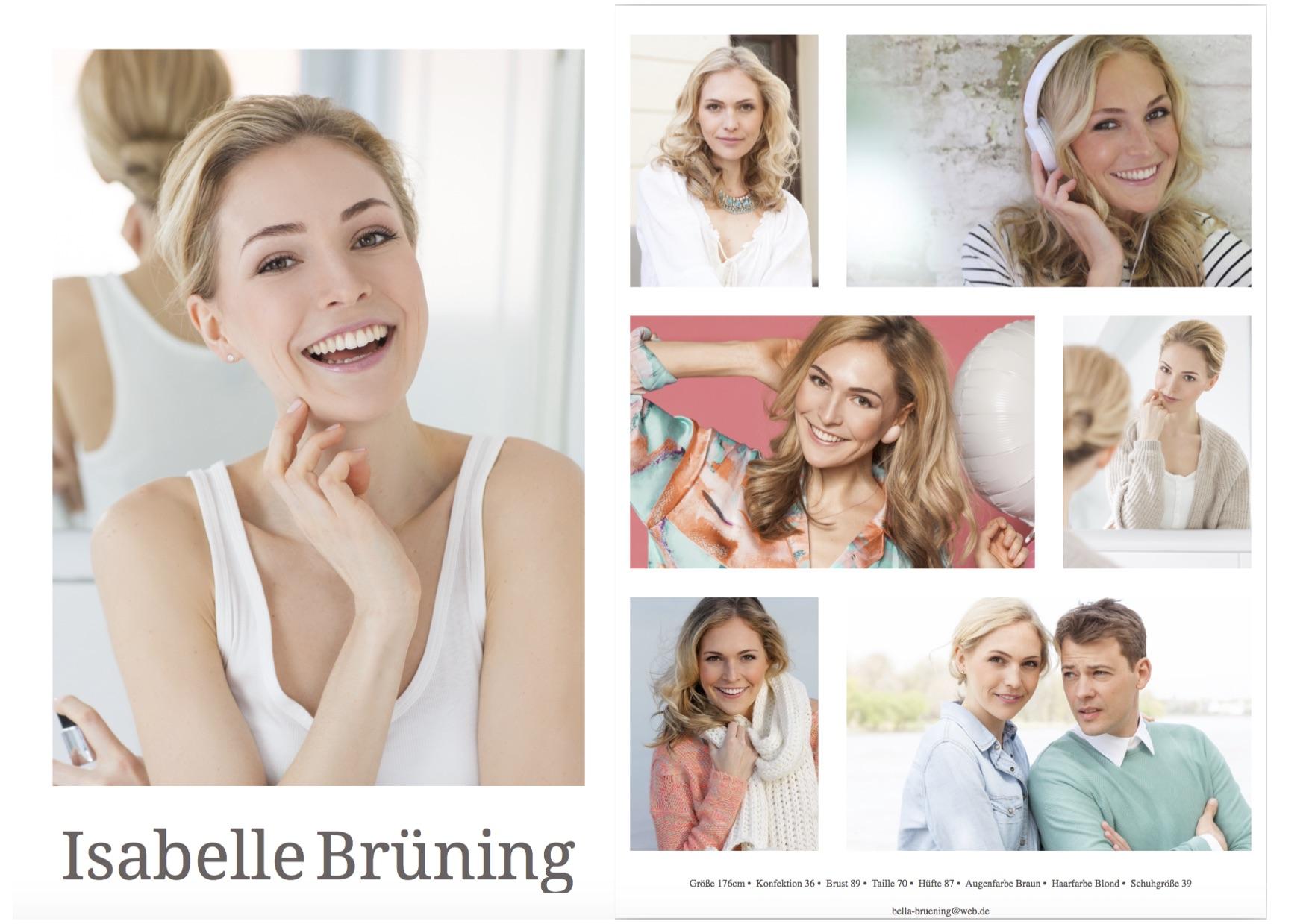 Sedcard Isabelle Brüning